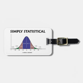 Simply Statistical (Bell Curve Attitude) Luggage Tags
