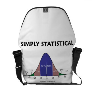 Simply Statistical (Bell Curve Attitude) Messenger Bag
