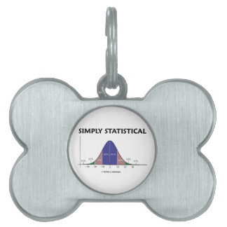 Simply Statistical (Bell Curve Attitude) Pet ID Tag