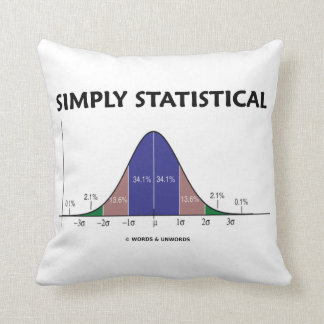 Simply Statistical (Bell Curve Attitude) Pillows