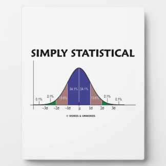 Simply Statistical (Bell Curve Attitude) Plaque