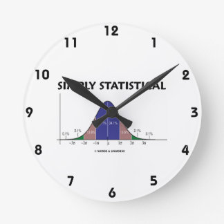 Simply Statistical (Bell Curve Attitude) Round Wall Clocks