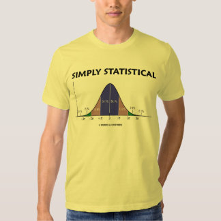 Simply Statistical (Bell Curve Attitude) Tshirt
