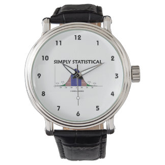Simply Statistical Bell Curve Geek Humor Wristwatch