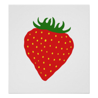 Simply Strawberry custom poster