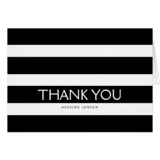 Simply Stripes Thank You Note Card / Black