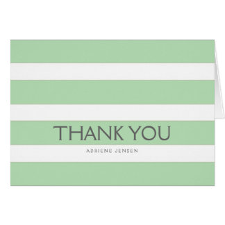 Simply Stripes Thank You Note Card / Mint