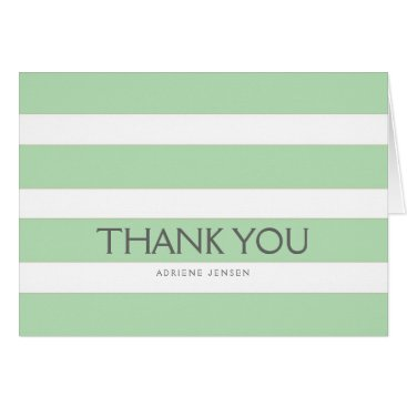 Professional Business Simply Stripes Thank You Note Card / Mint