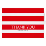 Simply Stripes Thank You Note Card / Red