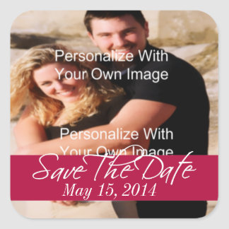 Simply Stunning Radiant Red Save The Date Seals