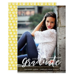 Simply Stylish | Graduation Announcement | White