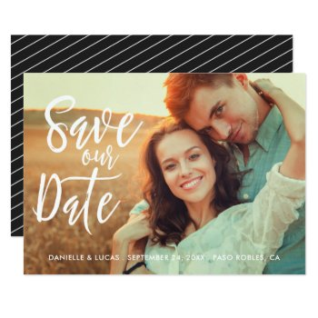 Simply Stylish Save The Date Photo Card by Orabella at Zazzle