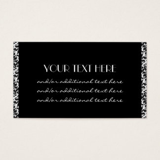 Simply Successful Damask Border Business Card
