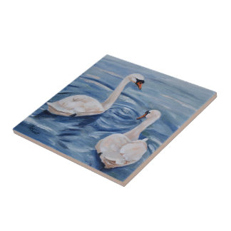 Simply Swans Tile
