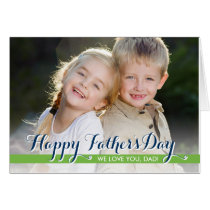 Simply Sweet Fathers Day Photo Card