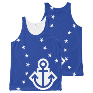 Simply Symbols - ANCHOR & STARS + your ideas All-Over Print Tank Top
