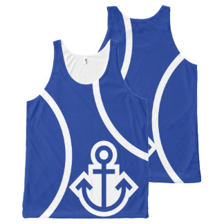 Simply Symbols - ANCHOR + your ideas All-Over-Print Tank Top
