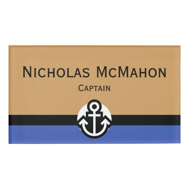 Personalized Waterproof Durable Large Tag Anchor Design