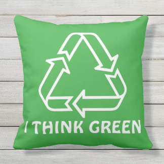 Simply Symbols / Icons - RECYCLING + ideas Throw Pillow