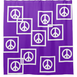 Captivating Simply Symbols   PEACE Sign + Your Ideas Shower Curtain