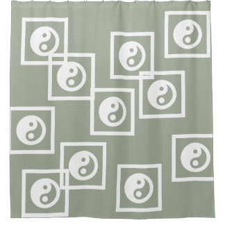Simply Symbols - YIN & YANG + your ideas Shower Curtain