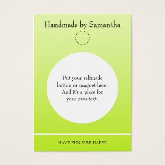 Simply Template for a Button Display - light green Business Card