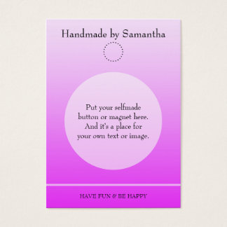 Simply Template for a Button Display - light pink Business Card