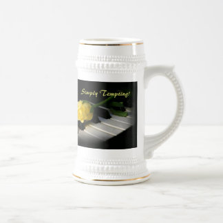 Simply Tempting! RoseOnPiano Beer Stein