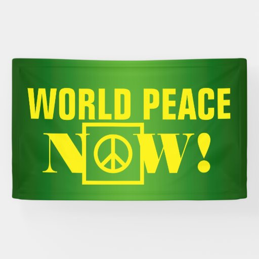"Simply text design ""WORLD PEACE NOW"""