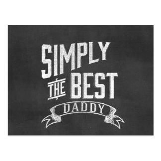 Simply the Best Daddy Chalkboard Art Postcard