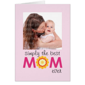 Simply the best MOM ever pink lilac mother's day Greeting Card