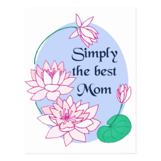 Simply the Best Mom Postcard