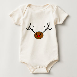 Simply the Red-Nosed Reindeer Baby Bodysuit