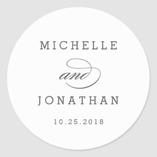 Simply Timeless Editable Color Wedding Sticker