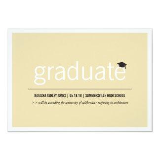 Simply Timeless Modern Graduate Graduation Photo Card