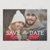 Simply Timeless Photo Save The Date Card
