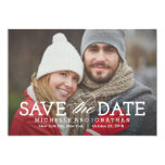 """Simply Timeless Photo Save The Date Card 5"""" X 7"""" Invitation Card"""