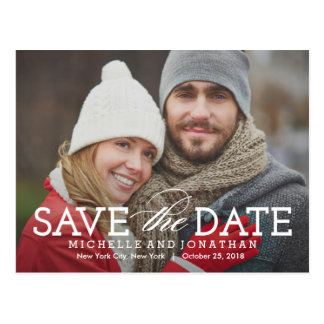 Simply Timeless Save The Date Postcard