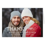 Simply Timeless Wedding Photo Thank You Card