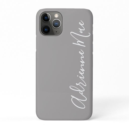 Simply Trendy Personalized Ash Gray iPhone 11 Pro Case