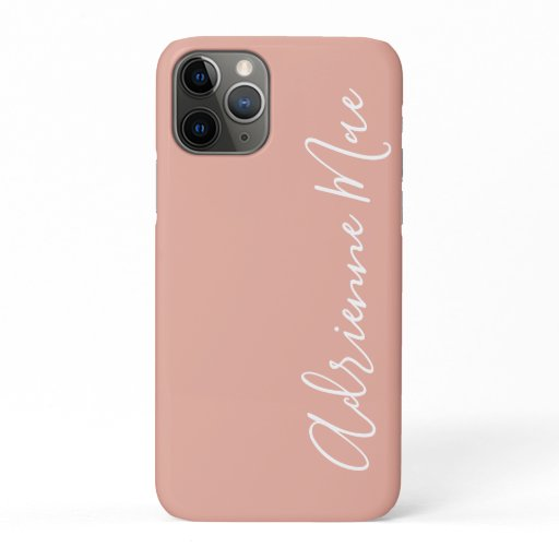 Simply Trendy Personalized Coral Pink iPhone 11 Pro Case