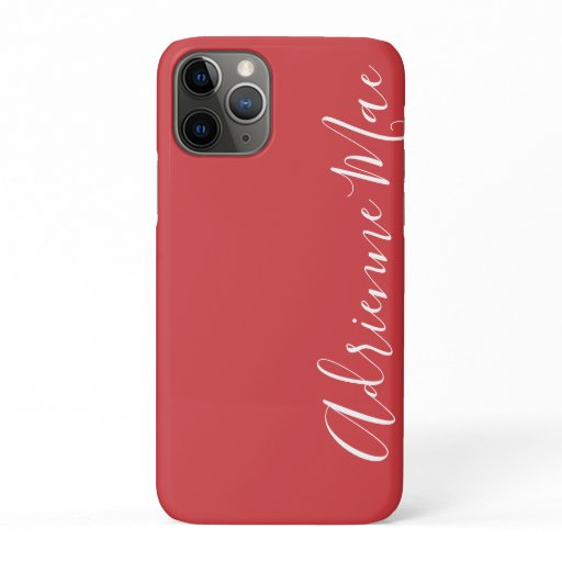 Simply Trendy Personalized Flame Red iPhone 11 Pro Case
