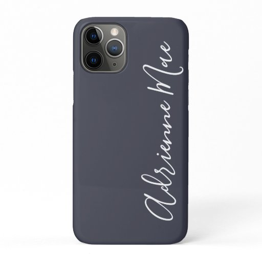 Simply Trendy Personalized Navy Blue iPhone 11 Pro Case
