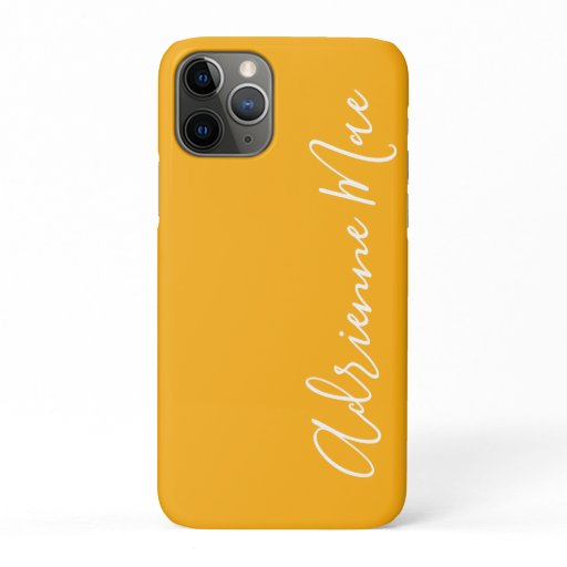 Simply Trendy Personalized Saffron Yellow iPhone 11 Pro Case