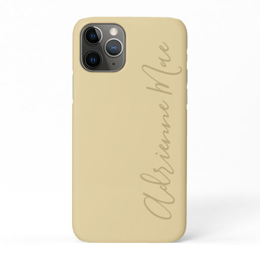 Simply Trendy Personalized Sunlight Gold iPhone 11 Pro Case