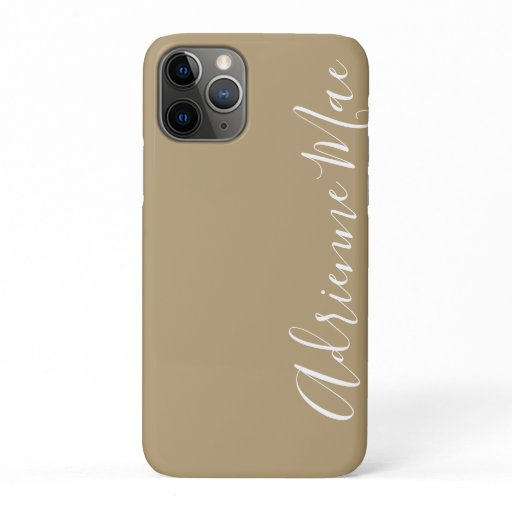 Simply Trendy Personalized Tan iPhone 11 Pro Case