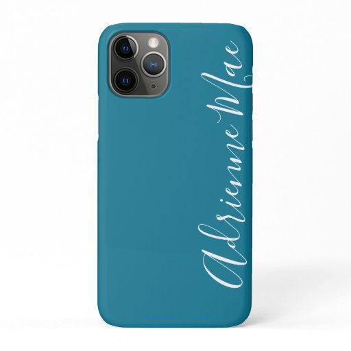 Simply Trendy Personalized Teal Blue iPhone 11 Pro Case