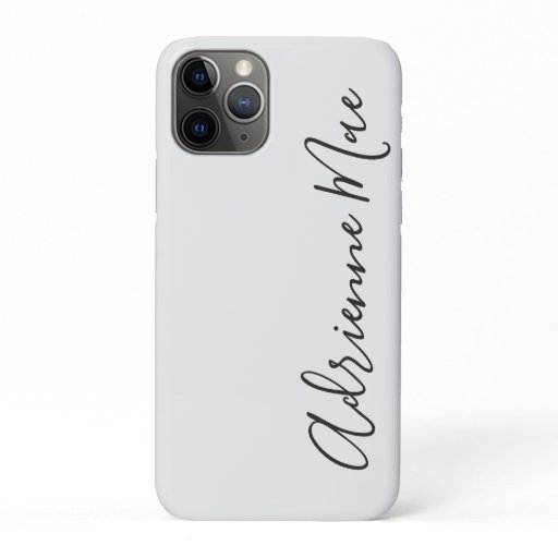 Simply Trendy Personalized White Silver iPhone 11 Pro Case