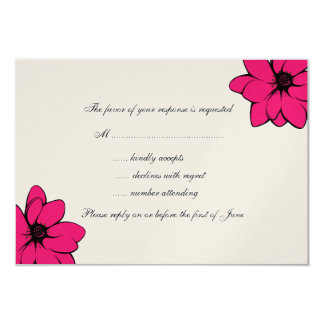 Simply Tropical Flowers On Champagne Card