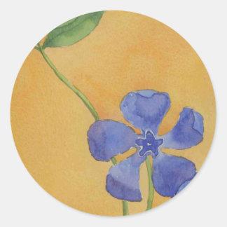"""Simply Vinca"" Floral Sticker"